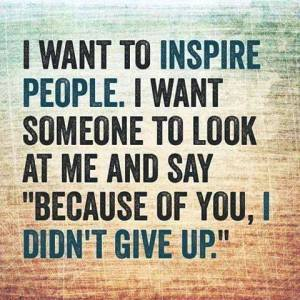 inspire don't give up