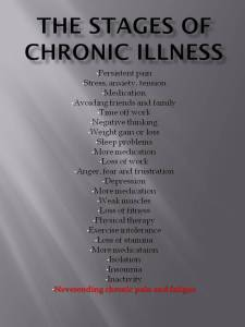 The stages of chronic illness