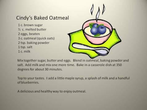 cindys baked oatmeal
