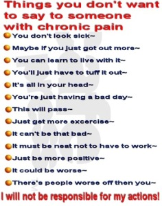 Things not to say to someone in chronic pain